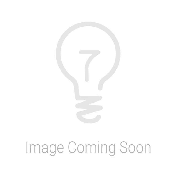 Endon Collection Alta Chrome Plate & White Glass 1 Light Bathroom Flush Light 76294