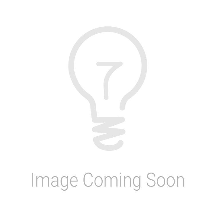 Dar Lighting Frederick Floor Lamp White & Satin Chrome FRE4902