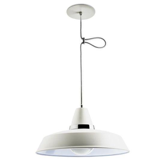 LEDS C4 00-1799-21-16 Vintage Steel Off-White/Chrome Pendant