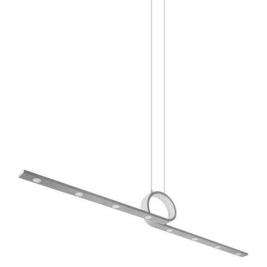LEDS C4 00-2017-CS-CS Curl Aluminium Concrete Grey Pendant