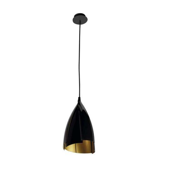 GROK Lighting - TULIP Pendant, Black Outer with Gold Inner - 00-4416-05-23