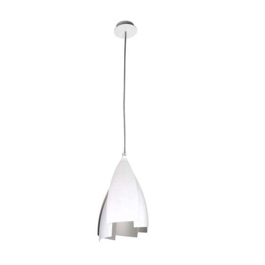 GROK Lighting - TULIP Pendant, Brilliant White Outer with Grey Inner - 00-4416-78-03