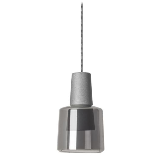 LEDS C4 00-5980-CS-12 Khoi Aluminium Concrete Grey Pendant