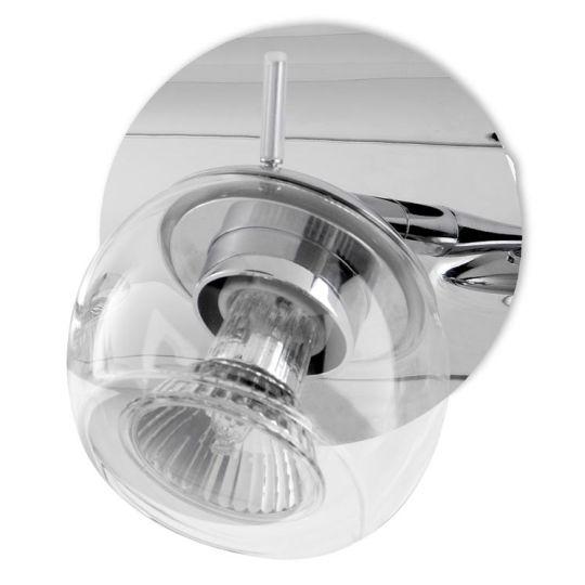 LA CREU Lighting - NOK Wall Light, Chrome, Transparent Glass - 05-4351-21-37