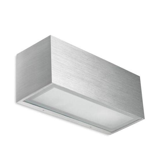 LA CREU Lighting - LIA Wall Light, Brushed Aluminium with Satin Glass - 05-4401-BX-B8