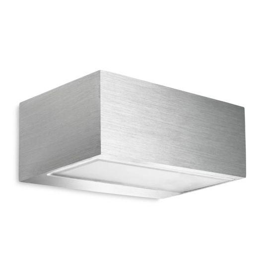 LA CREU Lighting - NEMESIS Wall Light, Brushed Aluminium with Satin Glass - 05-4402-BX-B8