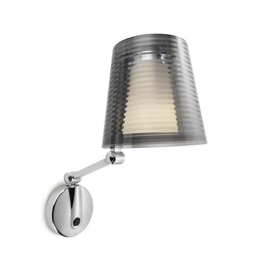 DAR Lighting - PIZA WALL BRACKET POLISHED CHROME - NO SHADE