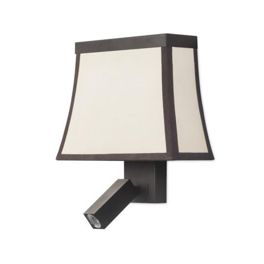 LEDS C4 05-5427-CI-20 Fancy Steel Dark Brown Wall Fixture