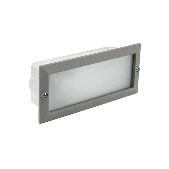 LEDS C4 05-8961-34-CL Hercules Injected Aluminium Grey Recessed Wall Light