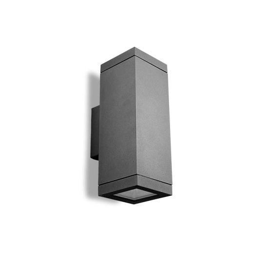 LEDS C4 Lighting - Afrodita Wall Light, Urban Grey, Injected Aluminium, Hardened Glass - 05-9368-Z5-37