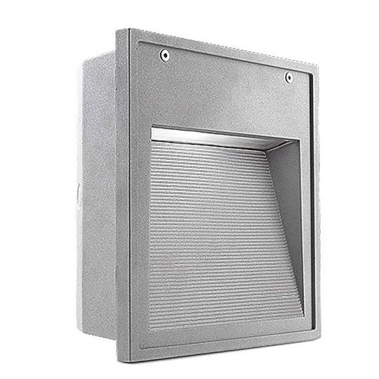 LEDS C4 Lighting - Wall Light, Grey, Satin Glass Diffuser - 05-9434-34-T2
