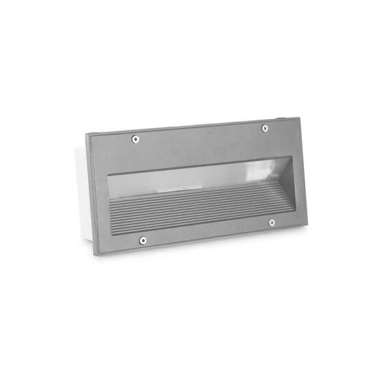 LEDS C4 05-9832-34-CM Micenas High Purity Aluminium Grey Recessed Wall Light