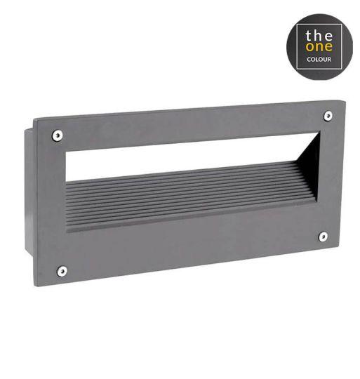 LEDS C4 05-9832-Z5-CL Micenas High Purity Aluminium Urban Grey Recessed Wall Light