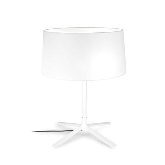 Grok 10-1940-BW-T007 Hall Steel Matt White Table Lamp