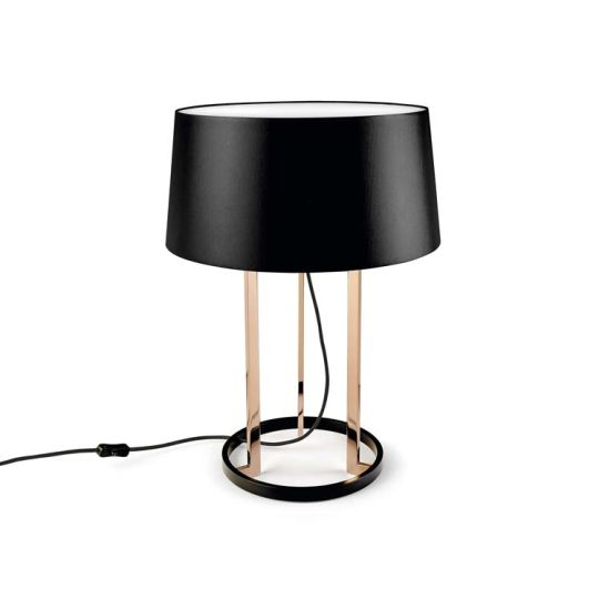 Grok 10-5076-06-H13W Premium Steel Shiny Copper Table Lamp
