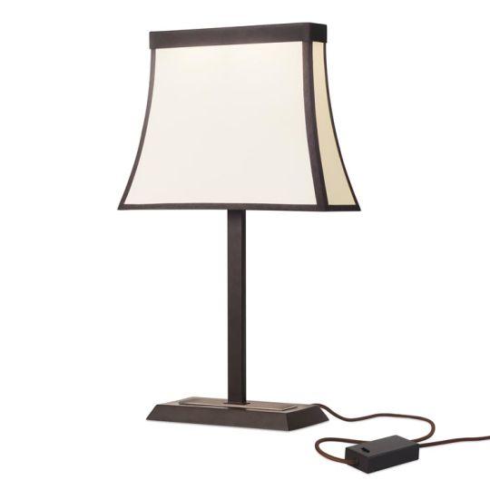 LEDS C4 10-5425-CI-20 Fancy Steel Dark Brown Table Lamp