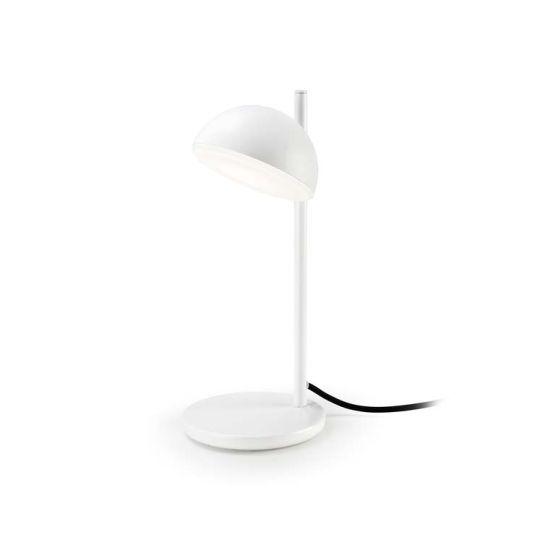 Grok 10-5458-BW-F9 Talk Aluminium/Steel Matt White Table Lamp
