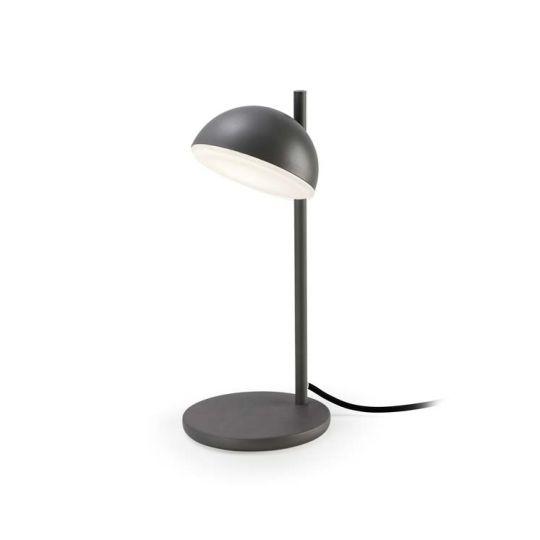 Grok 10-5458-Z5-F9 Talk Aluminium/Steel Urban Grey Table Lamp