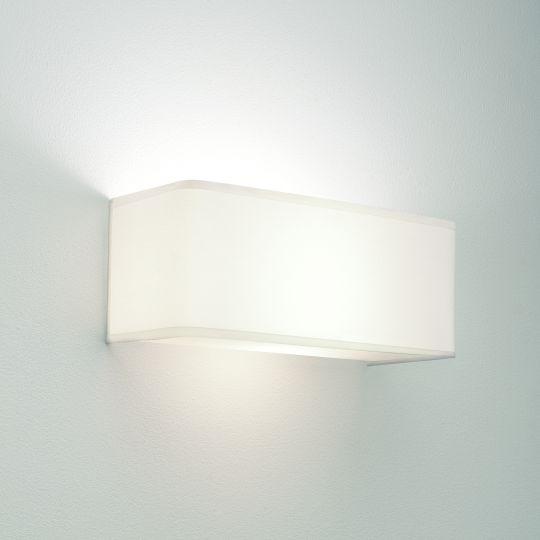 Astro Ashino Wide White Fabric Wall Light 1166002 (0767)