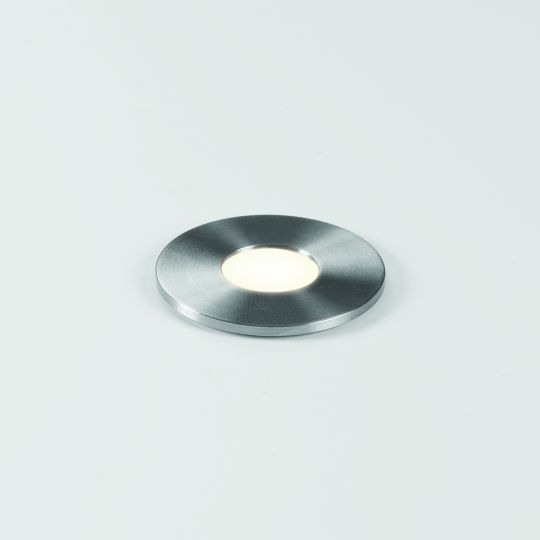 Astro Terra Round 28 LED Brushed Stainless Steel Ground Light 1201003 (7199)