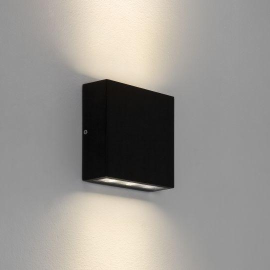 Astro Elis Twin LED Textured Black Wall Light 1331002 (7202)