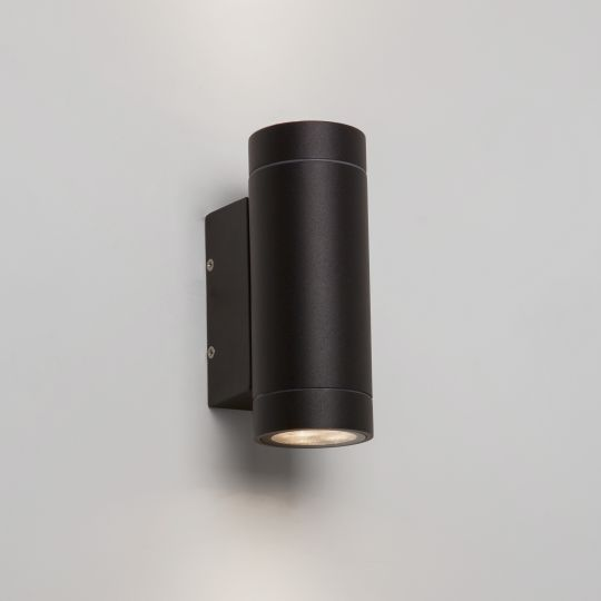 Astro Dartmouth Twin LED Textured Black Wall Light 1372006 (7586)