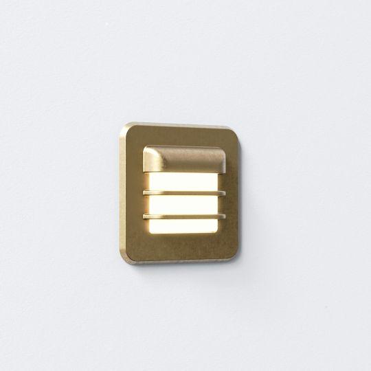Astro Arran Square LED Coastal Brass Marker Light 1379001 (7877)
