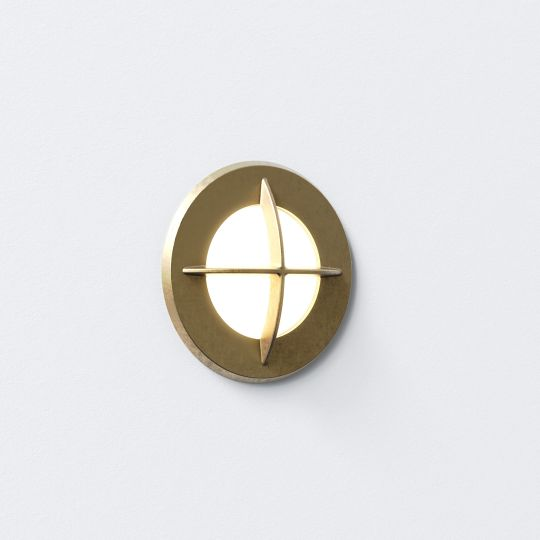 Astro Arran Round LED Coastal Brass Marker Light 1379002 (7878)