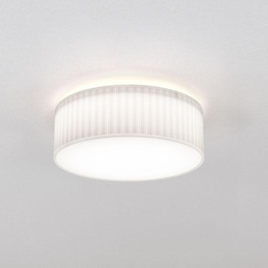 Astro Cambria 380 White Fabric (Pleated) Ceiling Light 1421003