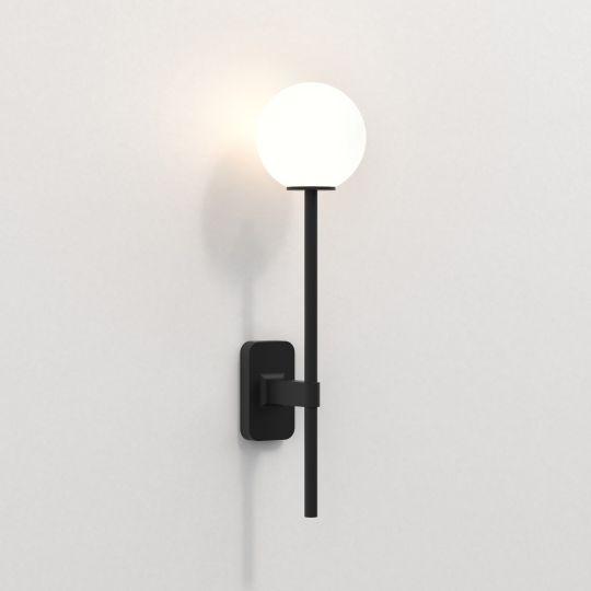 Astro Tacoma Single Grande Matt Black Wall Light 1429006