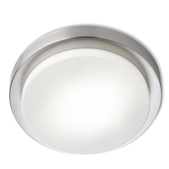 LEDS C4 15-1733-81-F9V1 Parma Steel Satin Nickel Ceiling Light