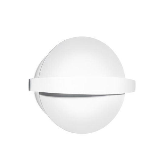 LEDS C4 15-2020-14-14 Saturn Steel/Aluminium Matt White Ceiling Light