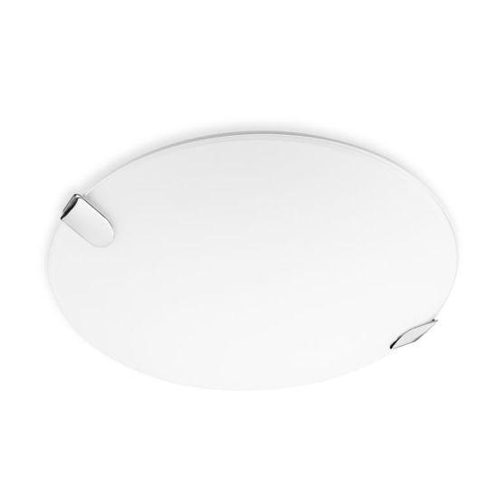 LA CREU Lighting - CLIP Ceiling Light, Chrome Finish with Extra White Glass Diffuser Diffuser - 15-4684-21-E9