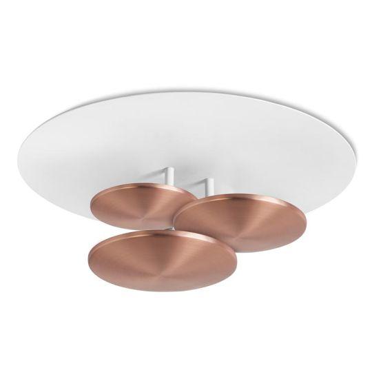 LEDS C4 15-4921-06-14 Strata Aluminium/Steel Matt Copper/Matt White Ceiling Light