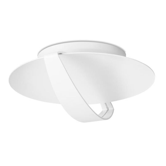LEDS C4 15-5073-14-14 Saturn Steel/Aluminium Matt White Ceiling Light