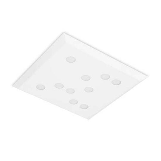 LEDS C4 15-5492-14-14 Wow Steel Matt White Ceiling Light
