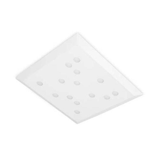 LEDS C4 15-5493-14-14 Wow Steel Matt White Ceiling Light