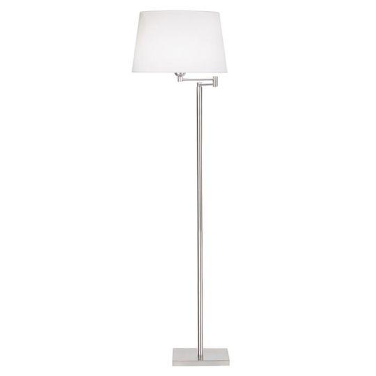 LA CREU Lighting - DOVER Floor Lamp, Satin Nickel - 176-NS