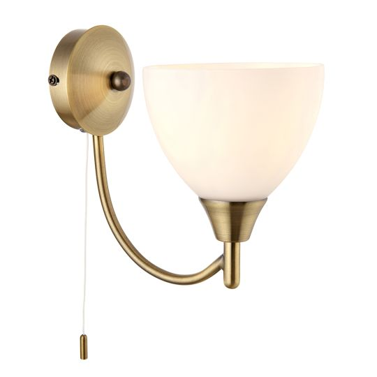Endon Lighting - ANT/BRASS SWITCH WB+OP GLASS - 1805-1AN