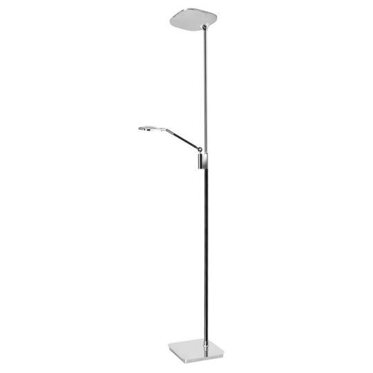 LEDS C4 25-4760-21-05 Queen Steel/Zamak Chrome/Black Floor Light