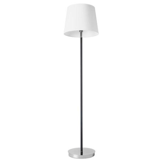 LEDS C4 25-4919-21-82 Deluxe Steel Chrome/Black Floor Light
