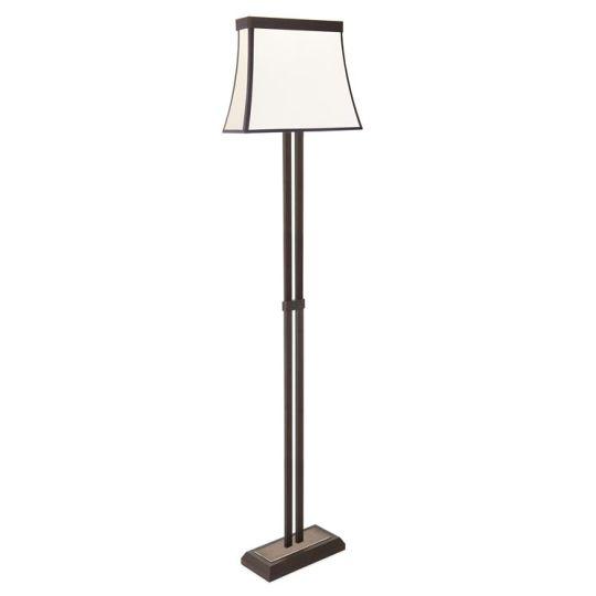 LEDS C4 25-5425-CI-20 Fancy Steel Dark Brown Floor Light