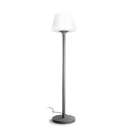 LEDS C4 Lighting - Standard Lamp, Urban Grey, Aluminium With Opaque Lampshade - 25-9503-Z5-M1