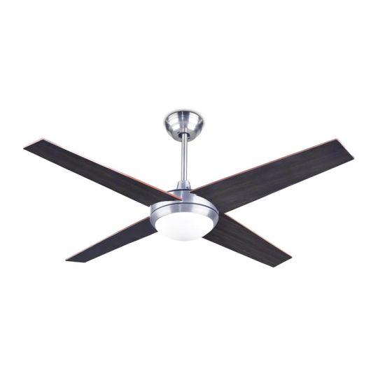 LA CREU Lighting - HAWAI Ceiling Fan, Satin Nickel, Matt Opal Glass - 30-2854-81-F9