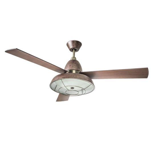 LEDS C4 30-3248-CG-E9 Vintage Steel/Steel Patine/Old Brown Fan