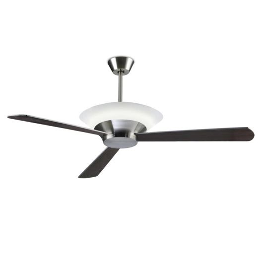LA CREU Lighting - TORONTO Ceiling Fan, Satin Nickel, Acrylic Diffuser - 30-4354-81-M1