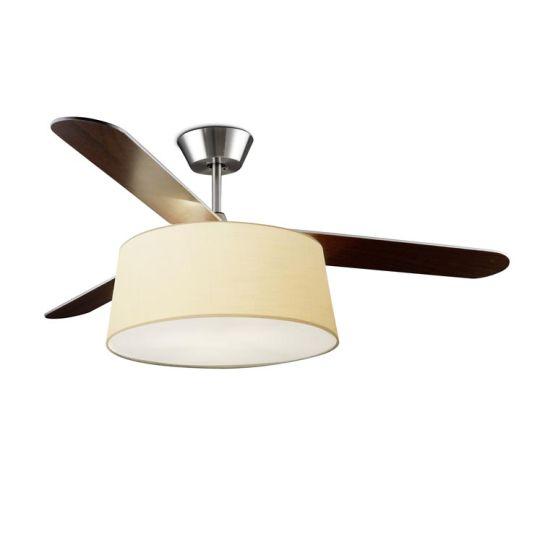 LA CREU Lighting - BELMONT Ceiling Fan, Satin Nickel - 30-4357-81-82