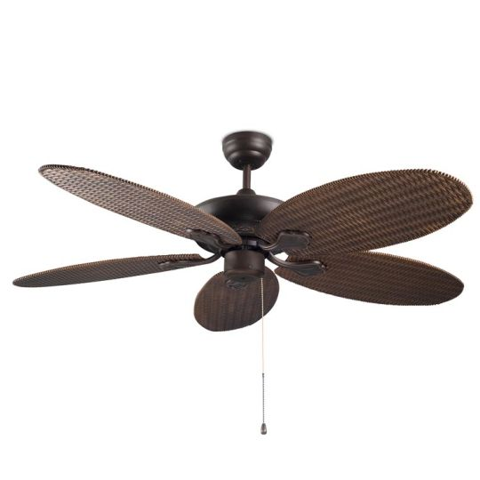 LA CREU Lighting - PHUKET Ceiling Fan, Copper Brown, Matt Opal Glass Diffuser - 30-4398-J7-J7
