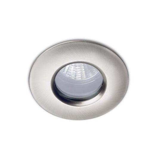 LA CREU Lighting - SPLIT Downlight, Satin Nickel, Tempered Glass - 320-NS