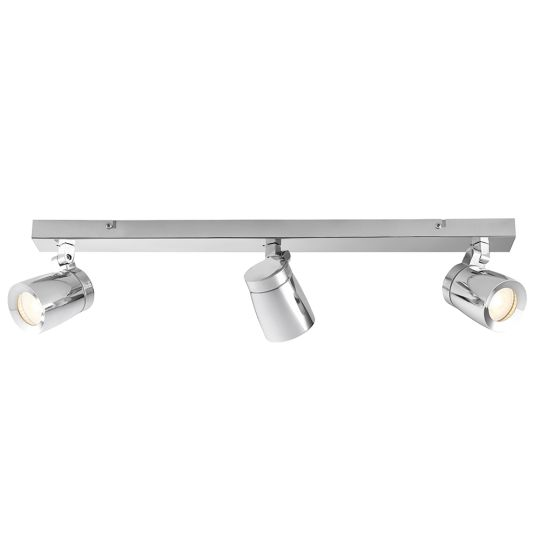 Endon 39168 - Knight Bar Ip44 35W Chrome Effect Plate And Clear Glass Bathroom Spot Light